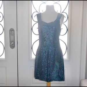 Expressions women sequin dress party size 10 NWT